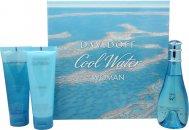 Davidoff Cool Water Geschenkset 100ml EDT + 75ml Body Lotion + 75ml Douche Breeze