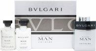 Bvlgari Man Extreme Geschenkset 60ml EDT Spray + 40ml Aftershave Balsem + 40ml Shampoo en Douchegel