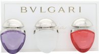 Bvlgari Omnia Collectie Jewel Charm Coffret Geschenkset 15ml EDT Omnia Crystalline + 15ml EDT Omnia Coral + 15ml EDT Omnia Amethyste