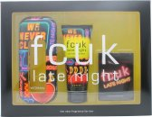 FCUK Late Night Her Geschenkset 100ml EDT + 100ml Body Lotion + Speel Kaarten