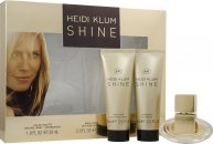 Heidi Klum Shine Geschenkset 30ml EDT + 75ml Body Lotion + 75ml Douchegel