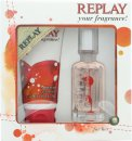 Replay For Her Geschenkset 20ml EDT + 50ml Douche Gel