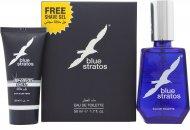 Parfums Bleu Limited Blue Stratos Geschenkset 50ml EDT + 25ml Scheergel