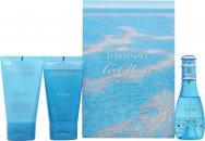 Davidoff Cool Water Woman Geschenkset 30ml EDT + 50ml Douche Breeze + 50ml Body Lotion