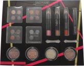 Active Cosmetics Colour Masterclass Set 4 x 10.24g Quad Oogschaduw + 2 x 3.58g Blusher + 1.79g Bronzer + 1.79g Highlighter + 3 x 7.8g Lipkrijt + 6.8ml Zwarte Mascara + 2 x Dubbelzijdige Applicators
