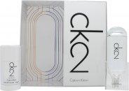 Calvin Klein CK2 Geschenkset 100ml EDT + 75ml Deodorant Stick