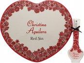 Christina Aguilera Red Sin Geschenkset 30ml EDP + Hartvormig Blikje