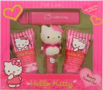Hello Kitty Pink Love Geschenkset 30ml Body Lotion + 30ml Douchegel + 4.5g Lipenbalsem + Fruitige Geur