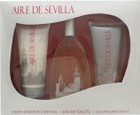 Instituto Español Aire de Sevilla Geschenkset 150ml EDT Spray + 150ml Exfoliërende Gel + 150ml Lichaamscrème