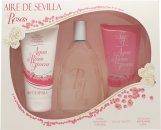 Instituto Español Aire de Sevilla Agua de Rosas Frescas Geschenkset 150ml EDT Spray + 150ml Douchegel + 150ml Lichaamscrème