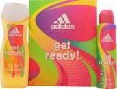 Adidas Get Ready! For Her Geschenkset 75ml EDT + 250ml Douchegel