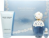 Marc Jacobs Daisy Dream Geschenkset 100ml EDT Spray + 150ml Bodylotion + 10ml Rollerball