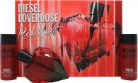 Diesel Loverdose Red Kiss Geschenkset 50ml EDP + 2 x 50ml Body Lotion