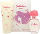 Gres Parfums Cabotine Rose Geschenkset 100ml EDT + 200ml Body Lotion