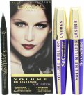 L'Oreal Volume Million Lashes So Couture Geschenkset 2 x 9ml Mascara in Zwart + Superliner Eyeliner in 001 Zwart