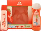 Adidas Fun Sensation Geschenkset 75ml EDT + 250ml Douchegel