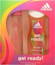 Adidas Get Ready! For Her Geschenkset 75ml EDT + 250ml Douchegel