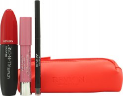 Revlon Love Series Essentials Geschenkset 1 x All-in-One Mascara + 1 x Balsem Stay + 1 x ColorStay Oogpotlood + Toilettas