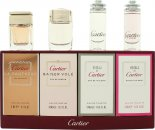 Cartier Miniatuur Geschenkset 4ml Declaration EDT + 4ml Declaration D'Un Soir EDT + 4ml Eau de Cartier EDT + 4ml Eau de Cartier Concentree EDT