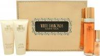 Elizabeth Taylor White Diamonds Geschenkset 30ml EDT + 3.7ml Parfum +  28g Lichaamstalk