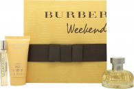 Burberry Weekend Geschenkset 50ml EDP + 50ml Bodylotion + 7.5ml EDP