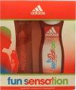 Adidas Fun Sensation Geschenkset 75ml EDT + 250ml Douchegel